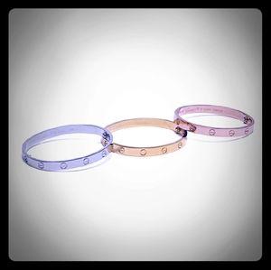 Gold Love Bracelet with Screwdriver set